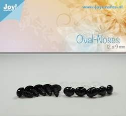 Joy!Crafts - Oval nose, black 12x9mm 10 pcs