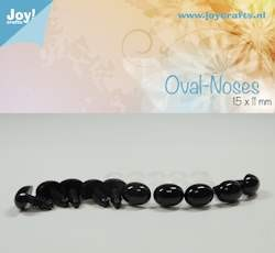 Joy!Crafts - Oval nose, black 15x11mm 10 pcs