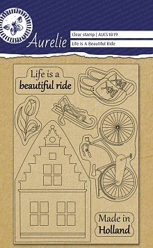 Aurelie - Clear Stamp - Life ia a beautiful ride