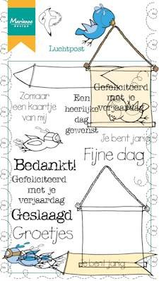 Marianne Design - Clearstamp - Luchtpost