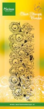 Marianne Design - Clearstamp - Hetty`s border-sunflower