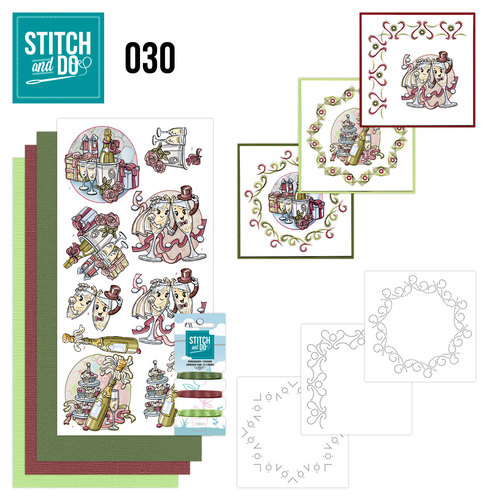 Card Deco - Stitch and Do - Borduurset 30 - Celebrations