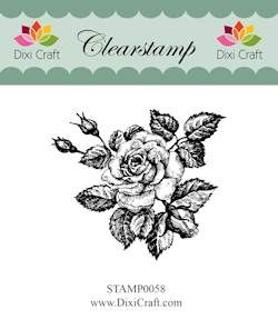 Dixi Craft - Clearstamp - Roses