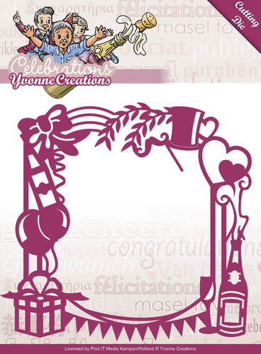 Yvonne Creations - Die - Celebrations - Party Frame
