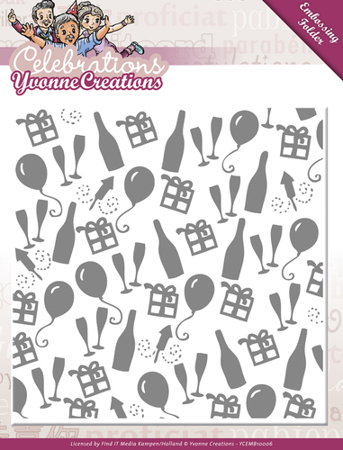 Yvonne Creations - Embossing Folder - Celebrations