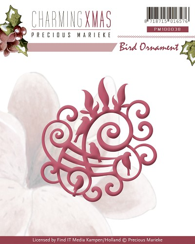 Precious Marieke - Die - Charming Xmas - Bird Ornament