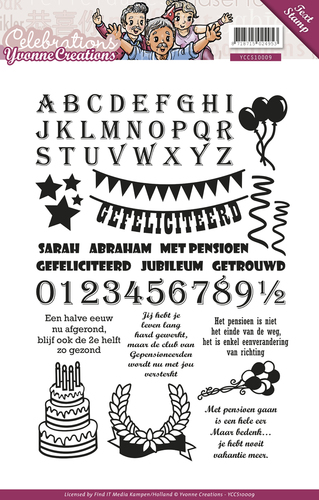 Yvonne Creations - Clearstamp - Celebrations - Tekst