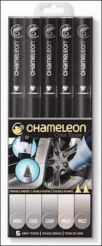Chameleon 5-pen set Gray Tones