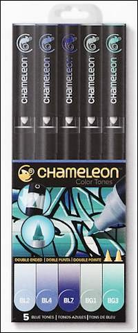 Chameleon 5-pen set Blue Tones