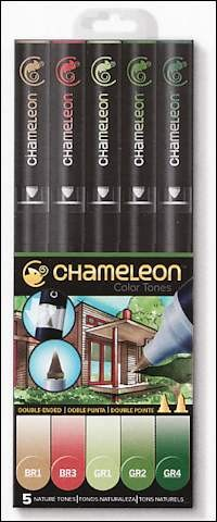 Chameleon 5-pen set Nature Tones