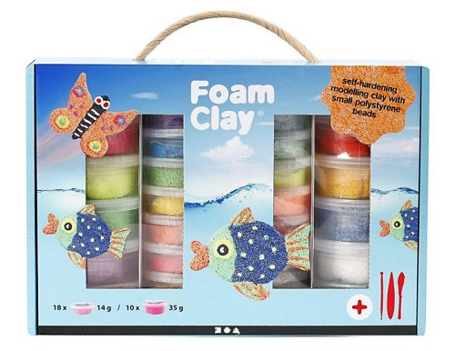 Foam Clay Set kleuren assorti