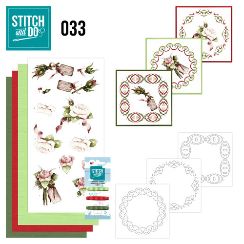 Card Deco - Stitch and Do - Borduurset 33 - Roses