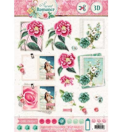Studio Light - A4 Stansvel - Sweet Romance nr.513