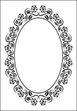 Nellie Snellen - Embossing folder - Oval rose frame
