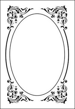 Nellie Snellen - Embossing folder - Oval deco frame