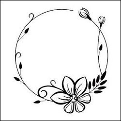 Nellie Snellen - Embossing folder - Round flower frame