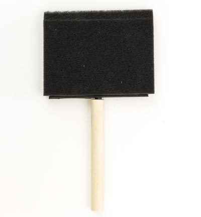 "Sponskwast - Foam brush 4"" - 100 mm"