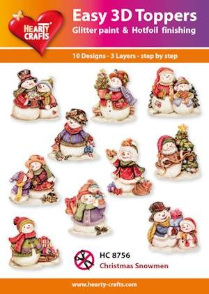 Hearty Crafts - Easy 3D Toppers - Christmas Snowmen