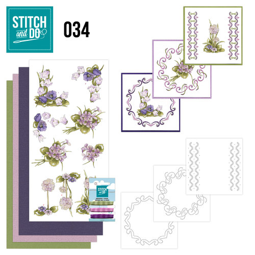 Card Deco - Stitch and Do - Borduurset 34 - Field flowers