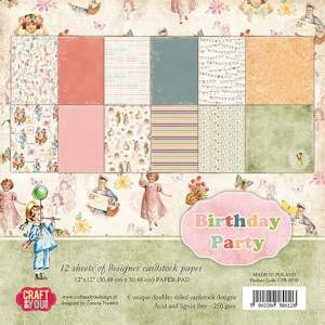 Craft & You Design - Big paper pad - Birthday Party