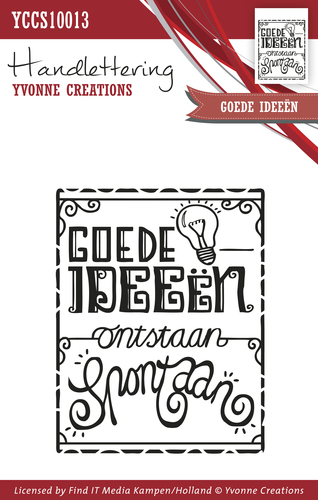 Yvonne Creations - Clearstamp - Handlettering - Goede ideeën