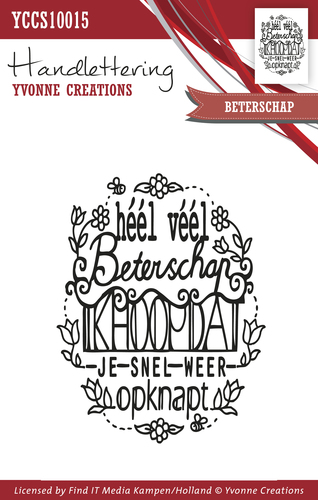 Yvonne Creations - Clearstamp - Handlettering - Beterschap