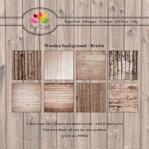 Dixi Craft - Paperpack - Wooden background