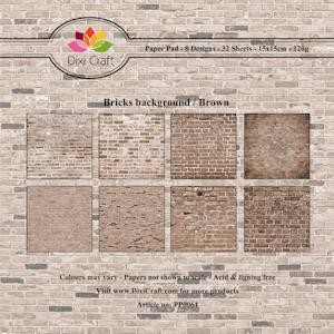 Dixi Craft - Paperpack - Bricks background