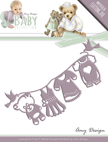 Amy Design - Die - Baby Collection - Clothes line