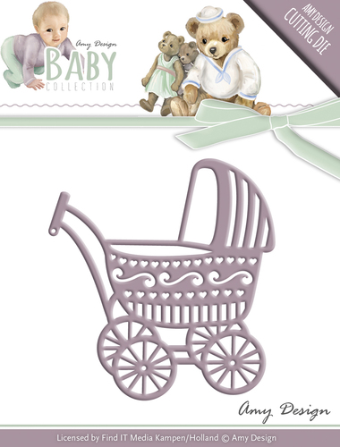 Amy Design - Die - Baby Collection - Baby Carriage