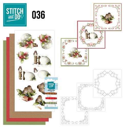 Card Deco - Stitch and Do - Borduurset 36 - Kerstversieringen