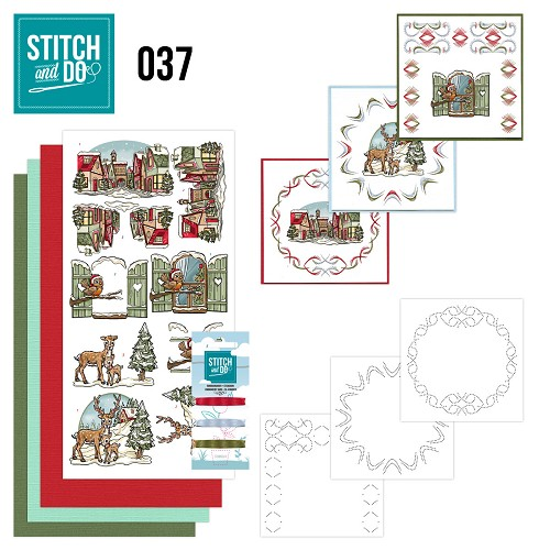 Card Deco - Stitch and Do - Borduurset 37 - Kerstversieringen