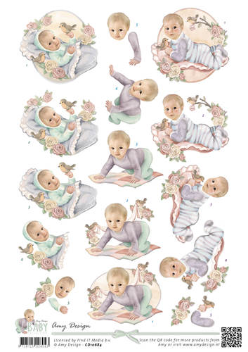 Amy Design - 3D Knipvel - Baby Collection - Vintage baby