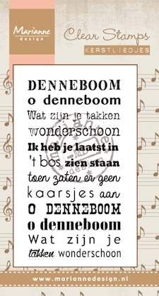 Marianne Design - Clearstamp - kerstlied Oh denneboom