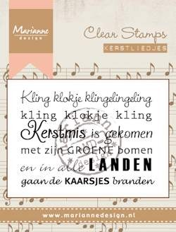 Marianne Design - Clearstamp - kerstlied kling klokje
