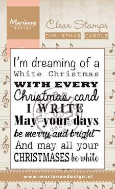 Marianne Design - Clearstamp - christmas carol White Christmas