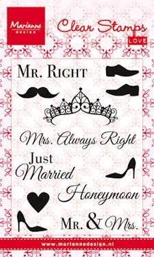 Marianne Design - Clearstamp - Mr & Mrs