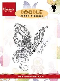 Marianne Design - Clearstamp - Doodle butterfly