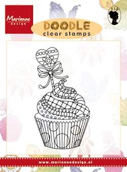 Marianne Design - Clearstamp - Doodle cupcake