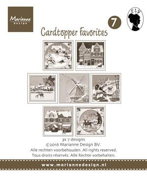 Marianne Design - Card toppers sepia favourites Els 2