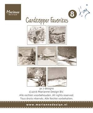 Marianne Design - Card toppers sepia favourites Tiny 2