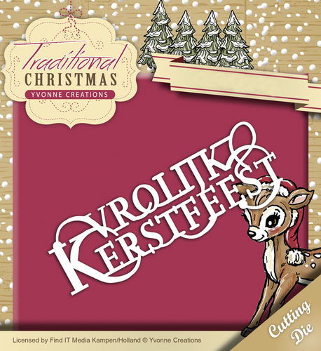 Yvonne Creations - Die - Traditional Christmas - Vrolijk Kerstfeest