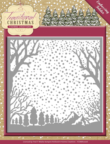 Yvonne Creations - Embossing Folder - Traditional Christmas