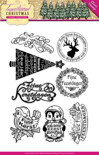 Yvonne Creations - Clearstamp - Traditional Christmas - Tekst