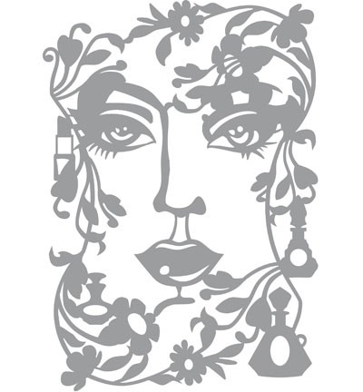 Pronty - Mask stencil - Face Lady