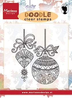 Marianne Design - Clearstamp - Doodle christmas decoration