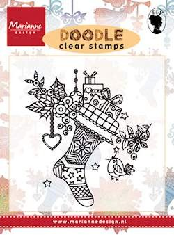 Marianne Design - Clearstamp - Doodle christmas stocking