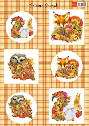 Marianne Design - knipvel autumn animals - Fox