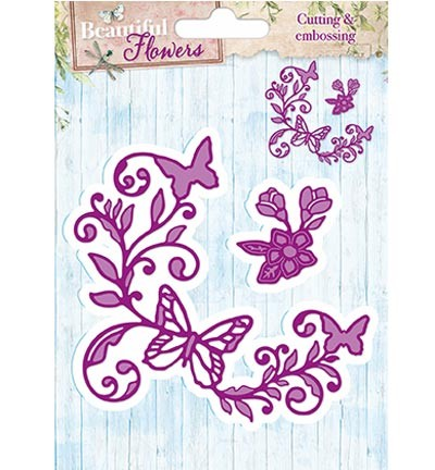 StudioLight - Cutting & Embossing - Beautiful Flowers Stencil nr.02