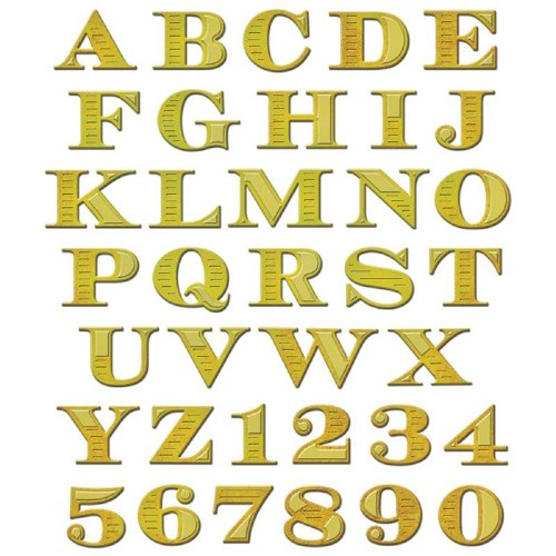 Spellbinders - Shapeabilities - Etched Alphabet